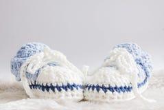 Bottini del bambino blu Immagini Stock