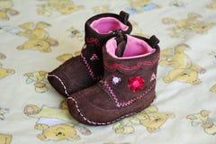 Bottini del bambino di Brown Fotografie Stock Libere da Diritti
