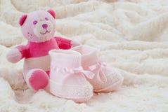 Bottini rosa del bambino Immagine Stock Libera da Diritti