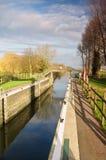 Bottisham-Verschluss, Fluss-Nocken, Cambridgeshire Lizenzfreie Stockbilder