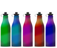 Bottle. Stainless steel water bottle for sports or hiking Stock Photo
