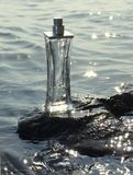 Bottle. Glass bottle in the sea waves Stock Image