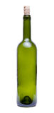 Bottle. Empty Green Bottle on white background Royalty Free Stock Images