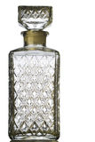 Bottle. Textured crystal bottle on white with clipping path Stock Image