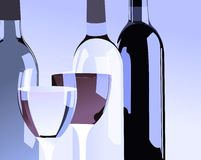 Bottle. Styled bottles and glasses two glasses and bottles Royalty Free Stock Image