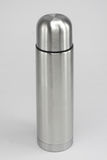 Bottle. Stainless Steel Silver Bottle Set Royalty Free Stock Image