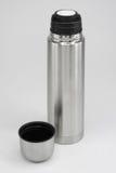 Bottle. Stainless Steel Silver Bottle Set stock photos