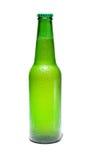 Bottle. Green bottle of beer isolated on white stock photos
