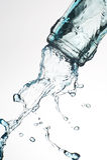 Bottle. And creative splashing water Stock Photos