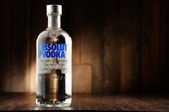 Bottle of Absolut Vodka Stock Images