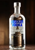 Bottle of Absolut Vodka Royalty Free Stock Images