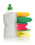 Bottle and accesories for cleaning Stock Photo