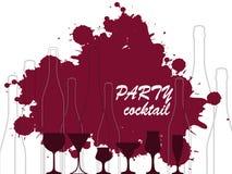 Bottle of alcohol illustration Stock Photography