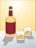 Bottle of alcoholic drink Royalty Free Stock Image