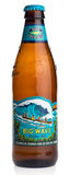 Bottle of American Hawaiian Kona Big Wave beer. Isolated on a white background Royalty Free Stock Photos