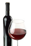 Bottle And Glass Of Red Wine Stock Photography
