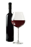 Bottle And Glass Of Red Wine Royalty Free Stock Photo