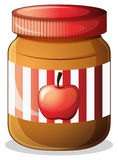 A bottle of apple jam Royalty Free Stock Photography