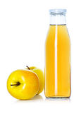 Bottle of apple juice with apples Royalty Free Stock Photo