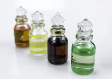 Bottle with aromas Stock Photography