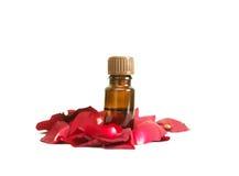 Bottle of aromatherapy oil Royalty Free Stock Photos
