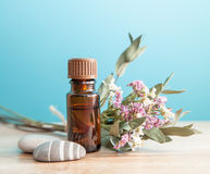 A bottle aromatic oil Stock Photo