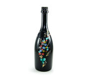 Bottle art. Art on the bottle of wine adds beauty Royalty Free Stock Photography