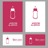 Bottle for baby logo. Icon vector Royalty Free Stock Photo