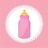 Bottle baby Royalty Free Stock Images