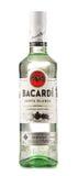 Bottle of Bacardi white rum isolated on white Royalty Free Stock Photography