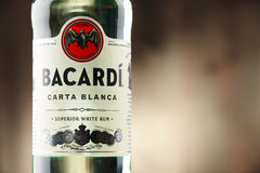 Bottle of Bacardi white rum Royalty Free Stock Images