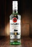 Bottle of Bacardi white rum Royalty Free Stock Photo