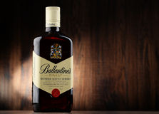 Bottle of Ballantine's scotch whisky Royalty Free Stock Images