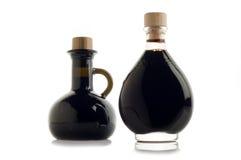 Bottle of balsamic vinegar. On white stock photos