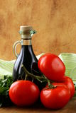 Bottle of balsamic vinegar Stock Photo