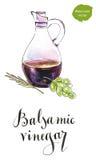 Bottle of balsamic vinegar Royalty Free Stock Photos