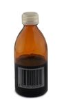Bottle with bar code Stock Photo