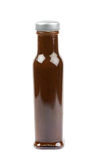 Bottle of barbecue sauce isolated Stock Photography