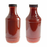 Bottle of barbecue sauce on white Royalty Free Stock Photos