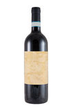 Bottle of barolo or barbaresco italian wine Royalty Free Stock Photo