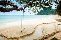Bottle beach on Koh Phangan. Summer seascape on tropical island Koh Phangan in Thailand. Bottle Beach royalty free stock images