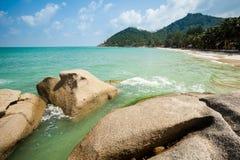 Bottle beach on Koh Phangan. Summer seascape on tropical island Koh Phangan in Thailand. Bottle Beach landscape royalty free stock image