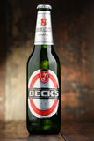 Bottle of Beck's beer Stock Photography