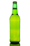 Bottle of beer. Green bottle with beer on white background Royalty Free Stock Photo