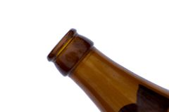 Bottle of beer. A brown bottle of beer Stock Photos
