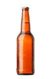 Bottle of beer. With drops on white background Stock Image