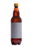 Bottle of beer with blank label Royalty Free Stock Image