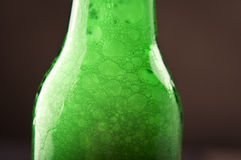 Bottle beer bubbles Royalty Free Stock Photo