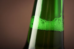 Bottle beer bubbles Stock Photography