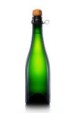 Bottle of beer, cider or champagne isolated on white background Royalty Free Stock Images